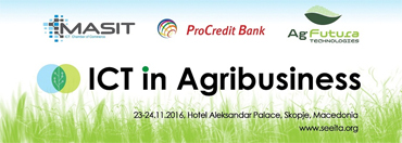 The players from ICT and Agribusiness Meet at ICT in Agriculture, Skopje, Macedonia, 23. – 24. 11. 2016