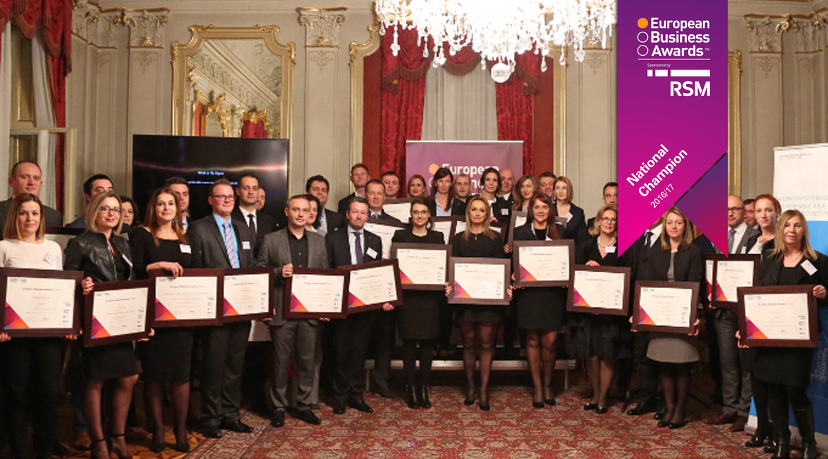 Datalab d.d. named National Champion in the European Business Awards 2016/17