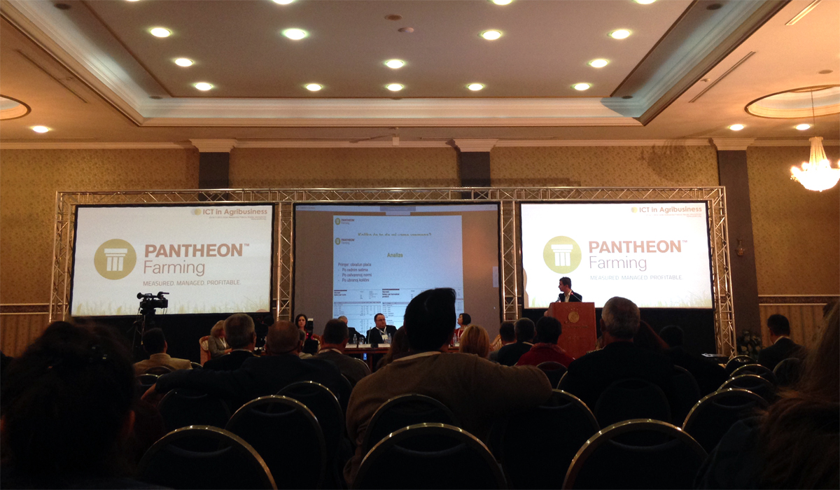 "PANTHEON Farming at the ""ICT in Agribusiness"" Conference in Skopje, Macedonia"